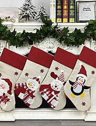 cheap -Christmas Stocking Creative Santa Snowman Elk Gift Bag Candy Bag Christmas Decoration Pendant