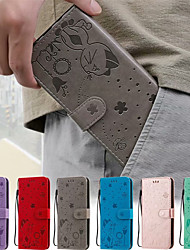 cheap -Case For Apple iPhone 12 / iPhone 12 Mini / iPhone 12 Pro Max Card Holder / Flip / Pattern Full Body Cases 3D Cartoon PU Leather