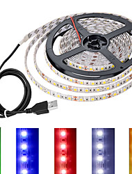 cheap -0.5m 1m 2m 3m USB LED Light Strip with Switch USB Connector TV Backlight Bar 5V Light bar of Multicolour Colors 5050 SMD 60led Per Meter Quick Switch Control