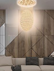 cheap -60 cm Unique Design Chandelier Crystal Electroplated LED 110-120V 220-240V
