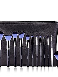 cheap -profession makeup brushes set 12pcs make up tool cosmetic foundation eyeshadow powder blush leather case, rose