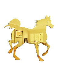 cheap -Galloping Horse / Animals Wall Stickers Mirror Wall Stickers Decorative Wall Stickers, Acrylic Home Decoration Wall Decal Wall Decoration 1pc 35*35cm
