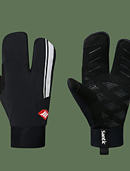 cheap -SANTIC Winter Bike Gloves / Cycling Gloves Touch Gloves Motor Bike Mittens Sports Gloves Black / Silver for Road Cycling Cycling / Bike
