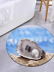 cheap -Pearl Shell By The Sea Round Mat Carpet Door Mat Bedroom Living Room Carpet Study Room Carpet Kitchen Bathroom Anti-slip Mat