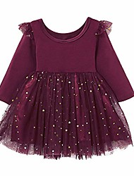cheap -baby girl dress red for fall long sleeve casual skirt 12-18 months