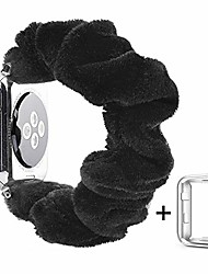 cheap -cute band scrunchies compatible with apple watch 38mm 40mm women girls, soft velvet elastics hair wristbands replacement for iwatch series 1 2 3 4 5 (black with series 5/4 clear case, 38mm/40mm)