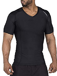 cheap -alignmed posture shirt pullover for men – moisture wicking, breathable, compression & performance active wear for yoga, fitness & sports – increases upper body strength (black, x-large)