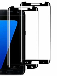 cheap -s7 edge screen protector (2 pack), case-friendly tempered glass,anti-scratch,anti-bubble,9h hardness,hd clear protective glass for samsung galaxy s7 edge(black)