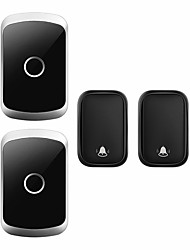 cheap -CACAZI Self-powered Waterproof Wireless Doorbell with No Battery Chime Smart Home Door Bell  2 Button2 Receiver