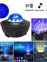 cheap -Colorful Starry Sky Projector Blueteeth USB Voice Control Music Player LED Night Light USB Charging Projection Lamp Kids Gift