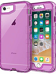 cheap -iphone 6s plus case, iphone 6 plus case,  crystal clear 3 in 1 heavy duty defender shockproof full-body protective case hard pc shell soft tpu bumper cover for iphone 6 plus/6s plus, clear purple