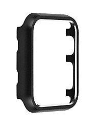 cheap -metal protective smartwatch bumper 38mm, matte finish aluminum alloy frame cover case compatible with apple watch 38mm series 3, series 2, series 1 - black