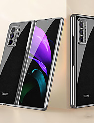 cheap -Case For Samsung Galaxy Galaxy Z Fold 2 Shockproof Dustproof Back Cover Lines Waves Word Phrase PC