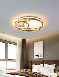 cheap -50 cm Ceiling Light Nordic Style Gold Flush Mount Metal Shiny Metallic Crossover Electroplated 110-120V 220-240V