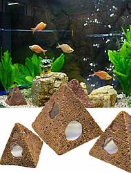 cheap -Pyramid Fish Shrimp Shelter House Scorpion House Fish Tank Aquarium Decor Resin Ornament