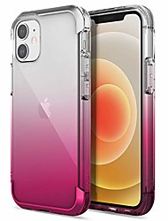 cheap -raptic air case compatible with iphone 12 & iphone 12 pro, scratch resistant cover, aluminum metal bumper, wireless charging compatible, 13ft drop protection, fits iphone 12 & 12 pro, pink