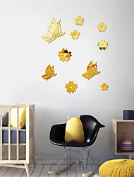 cheap -Flying butterfly flower Wall Stickers, Acrylic Home Decoration Wall Decal Wall Decoration 1pc