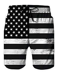 cheap -mens american flag star srtipe 3d print beach shorts july 4th apparel summer casual board shorts xl