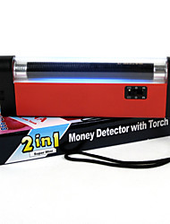 cheap -2 in 1 portable UV lamp fake money detector hand-held LED flashlight counterfeit currency detector counterfeit currency bill