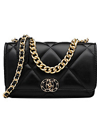 cheap -Women's Bags PU Leather Crossbody Bag Chain for Daily / Going out Gold / Light Gold