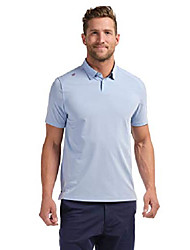 cheap -commuter polo casual wear polo shirt for men, anti-odor, moisture-wicking with 4-way stretch (blue oxford, medium)