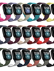 cheap -Band For Fitbit Versa 3/Sense Soft Silicone Sport Strap Replacement Wristband Women Men Smart Watch Accessories For Fitbit Sense