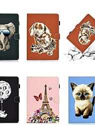 cheap -Case For  Samsung Galaxy Tab A7 2020 T500 T505 Card Holder with Stand Flip Full Body Cases Animal Eiffel Tower PU Leather Tab A 10.1 T510 S5E 10.5 T720 T725 S7 T870 T875 S6lite P610 P615 T580 T560