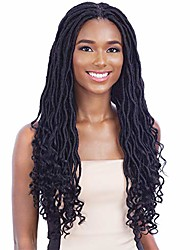 cheap -gorgeous loc (1b off black) - freetress  synthetic hand-tied lace part braid wig