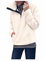 povoljno -pulover veće veličine šerpa ženska trenirka pola zatvarača nejasna umjetna jakna od flisa zimski kaput odjeća s džepovima bež