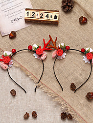 cheap -Christmas Toys Hair Band Photo Booth Props Elk Decoration Party Favors Plastic 2 pcs Kid's Adults 16cm*18cm*0.3cm Christmas Party Favors Supplies