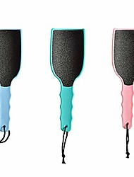 cheap -curved foot file callus remover, 3pcs professional scrubber pedicure tool kit for dead skin (3 colors)