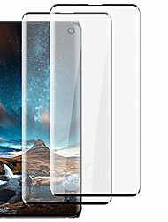 cheap -2-pack for samsung galaxy s10 screen protector tempered glass hd clear [9h hardness] [high sensitivity] [scratch resistant] [anti-bubble] compatible with fingerprint (6.1-inch)