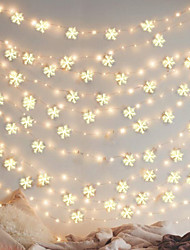 cheap -3M 30LED Christmas Artificial Snowflake Christmas Tree Decor Snow Fake Snowflakes Christmas decorations for home noel