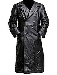 cheap -german classic officer military uniform black trench coat