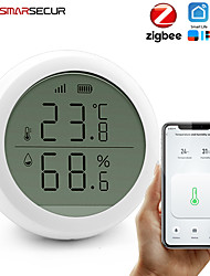 cheap -Smart home Tuya Zigbee Temperature Humidity Sensor High Accuracy T&H Sensor Work with Gateway Hub with display