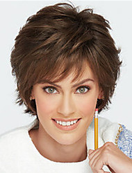 cheap -Synthetic Wig Curly Pixie Cut Wig Short sepia Synthetic Hair Women's Fashionable Design Classic Exquisite Brown