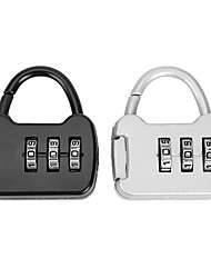 cheap -Portable 3 Digit Combination Backpack Mini Carrying Password Lock Hardware Luggage Case for Travel Backpack Lock Padlock