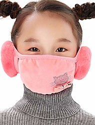cheap -2-in-1 unisex face bandana with ear warmers for adults & kids, womens cold winter outdoor cotton earmuffs