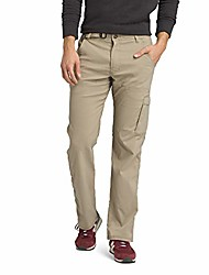 """cheap -- men& #39;s stretch zion lightweight, durable, water repellent pants for hiking and everyday wear, 36"""" inseam, dark khaki, 30"""