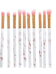 cheap -10 pcs makeup brush set professional face eye shadow eyeliner foundation blush lip makeup brushes powder liquid cream cosmetics blending brush tool make up brushes (gold)