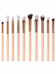 cheap -12 pcs eye brush high-end wooden handle eye shadow brush, tonsee beauty makeup brush set cosmetic tools