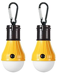 cheap -led camping lights [2 pack] portable led tent lanterns 4 modes for backpacking camping hiking fishing emergency light battery powered lamp for outdoor and indoor (yellow)