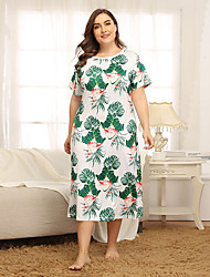 cheap -Women's Home Polyester Loungewear Floral / Botanical XL Green