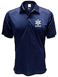 cheap -ems navy polo reflective design, performance polo w/moisture wicking technology (large)