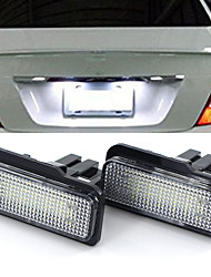 cheap -2Pcs 2W 12V 6500K LED License Plate Light Bulb For Mercedes Benz W203 W211 W219 R171