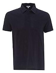 cheap -riviera short sleeve cotton polo shirt in navy blue xs