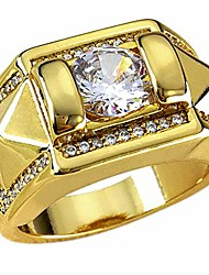 cheap -men's wedding engagement ring band ring platted gold color ring