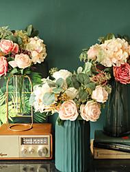 cheap -Wedding Party Artificial Flowers Decor Bridal Flowers  Simulation Flowers Display 1 Bouquet 15*36cm