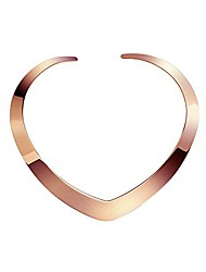 cheap -high polished stainless steel necklace love choker heart shape women statement jewelry