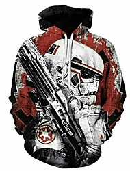 cheap -Inspired by Cosplay Soldier / Warrior Cosplay Costume Hoodie Plush Fabric 3D Printing Hoodie For Men's / Women's